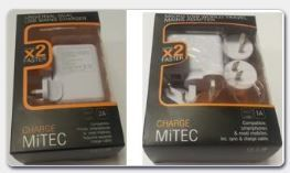 MiTec Mains Adaptors/Chargers sold at Tesco. Return to the nearest Tesco Extra or Superstore for a refund.