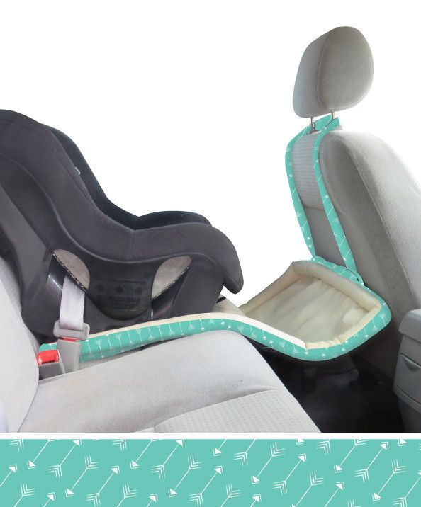"""The """"Catchie"""" - Car Seat 3-in-1 Protector. Keeps spills and crumbs from getting on the seat and floor, and keeps toys within reach!"""