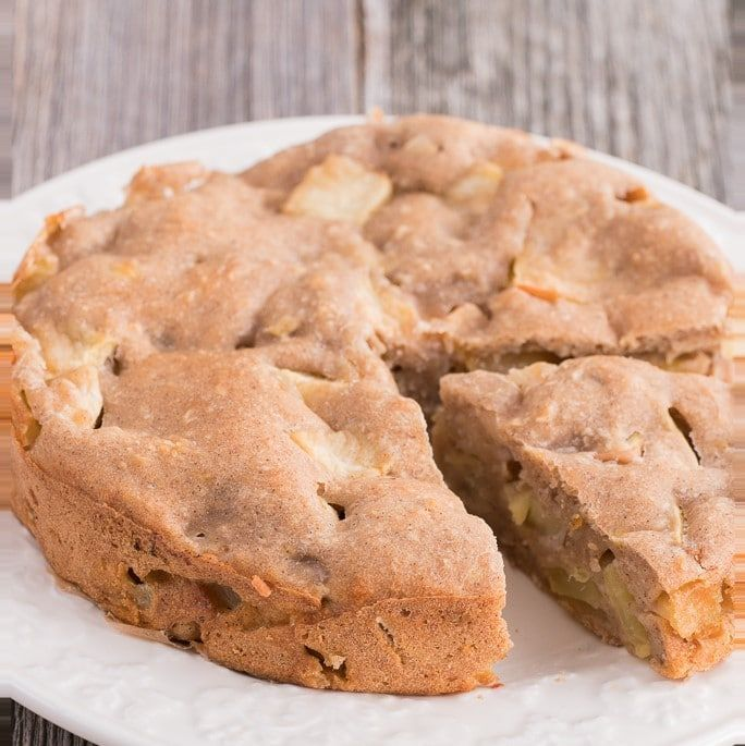 Apfelkuchen ohne Zucker, Butter, Ei