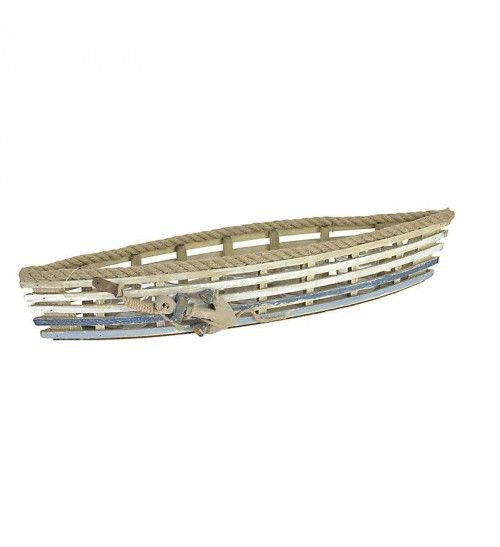 WOODEN CANDLE HOLDER_SHIP W_7 SECTIONS 52X16X16