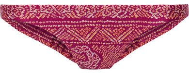 Vix - Boho Luca Printed Bikini Briefs - Plum