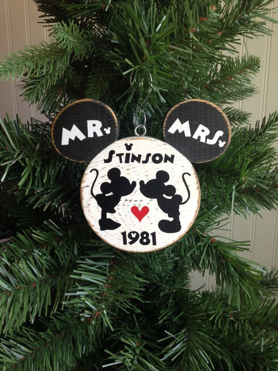 242 best celebrate simply images on pinterest disney christmas disney wedding mr and mrs mickey minnie bride groom disney christmas ornament disney wood ornament wedding shower gift junglespirit Images
