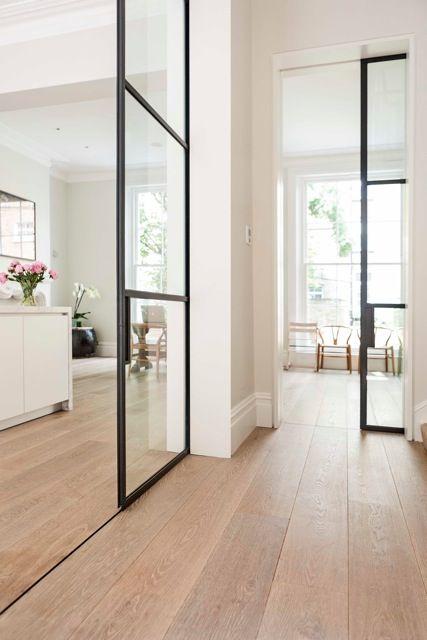 #White #Oak | wire-brushed floor with #bespoke finish