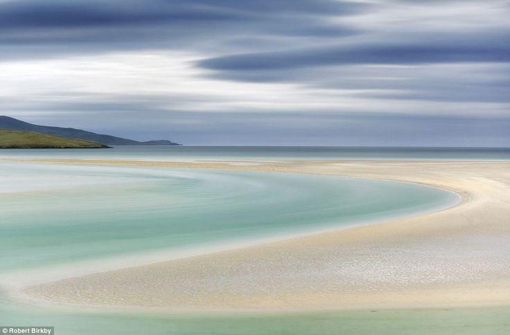 Curves, Luskentyre, on the Isle of Harris, Scotland, shot by Robert Birkby...