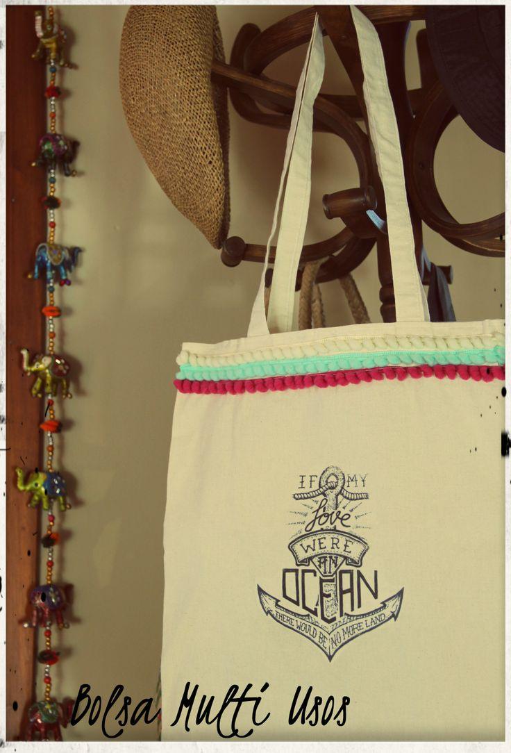 Bolsas en tela, para llevar lo que quieras y acompañarte a donde vayas!