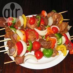 Foto da receita: Marinada para espetinhos de carne