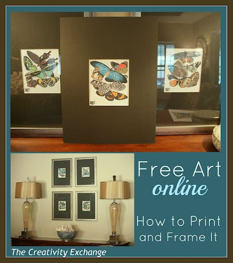 Free Art Online {How to Print & Frame It} The Creativity Exchange: Art Printable, Free Artworks, Galleries Wall, Art Online, Free Printable Art, Free Prints, Frames Art, Prints Frames, Printable Wall Art