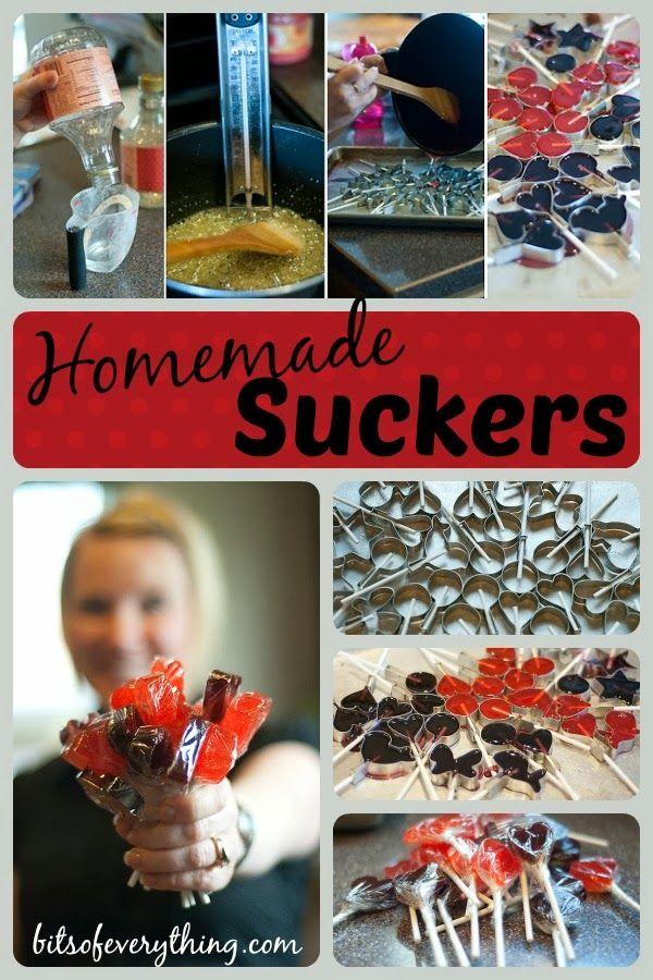 Homemade Suckers #homemade #suckers #recipe  blog.bitsofeverything.com
