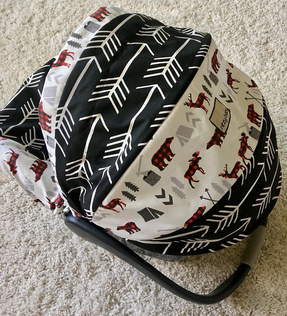 Black Arrows Infant Car Seat Cover Rustic Baby Car Seat