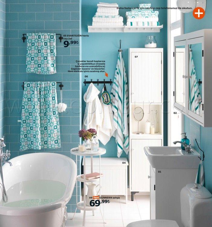 Ikea Kataloğu 2015: Güne Güzel Başlayın! Turkuaz Banyo