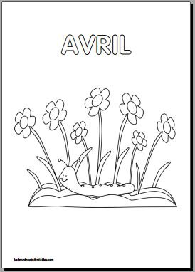 Coloriages mois de l'année en maternelle