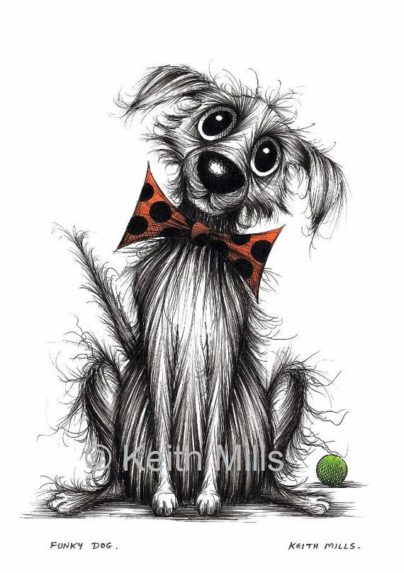 Funky dog Print download Groovy happy trendy pooch in posh spotty bow tie with his ball looking cool and fashionable Cute animal picture