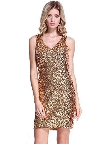 Gold sequin bodycon party dress  Shop the bling collection here: http://amzn.to/2lj9uVW
