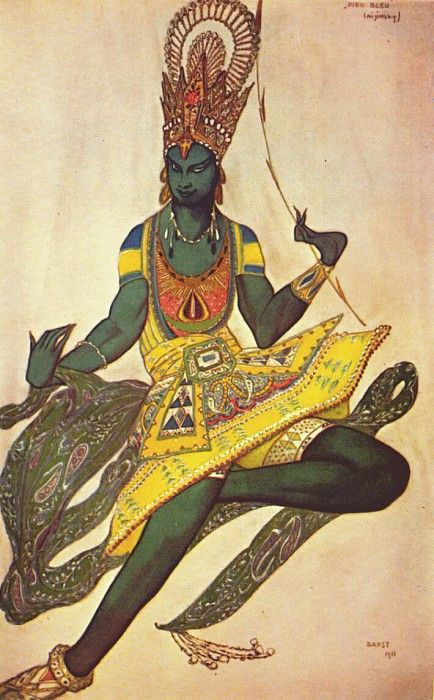 Синий бог Нижинский в роли бога 1911. Леон Бакст