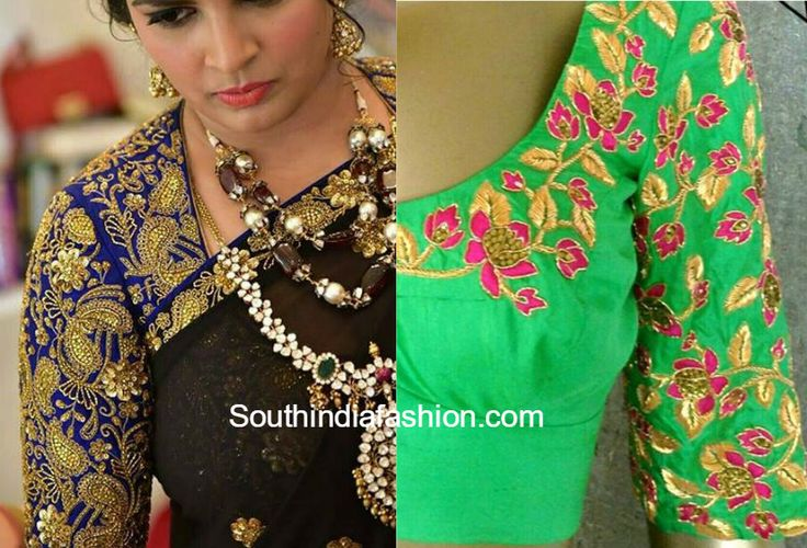 10 Gorgeous Maggam Work Blouse Designs by Shilpa Reddy photo