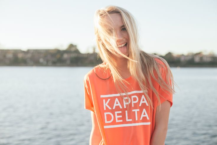Simple Boxy Kappa Delta Tee by  TSL | Sorority Apparel  | Bid Day  | Spring Break