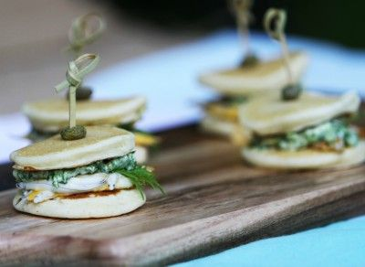 Whitebait & Preserved Lemon Blinis Sliders made with Marcel's Fancy Blinis