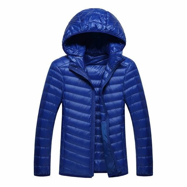 0435a349fed6 Men Winter Jacket Ultra Light White Duck Down Jackets Casual Portable Winter  Coat For Men Down