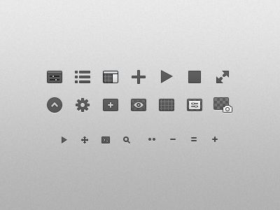 Origami toolbar icons
