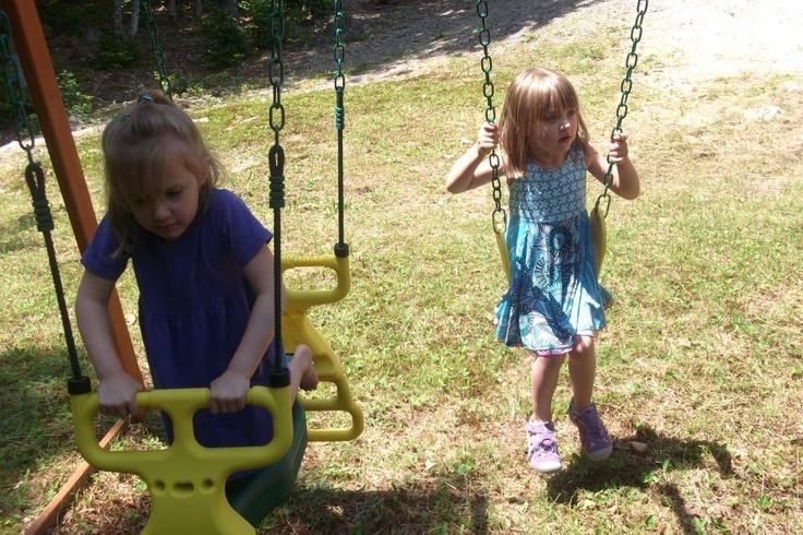 Lilli having fun with Avery