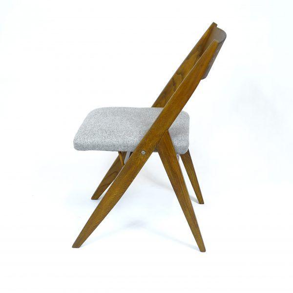 Krzesło składane, tapicerowane, Spółdzielnia Pracy Przemysłu Artystycznego w Toruniu, proj. Czesława Knothe. od 1975r