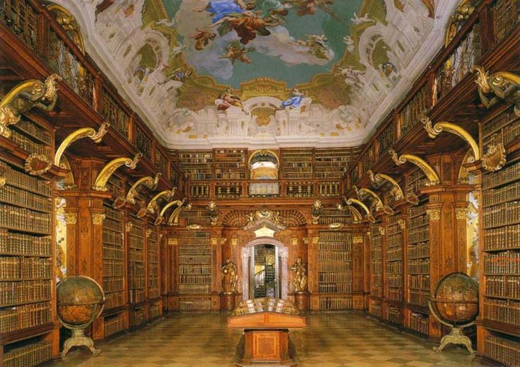 Melk Abbey Library, Germany | Libraries | Pinterest ...