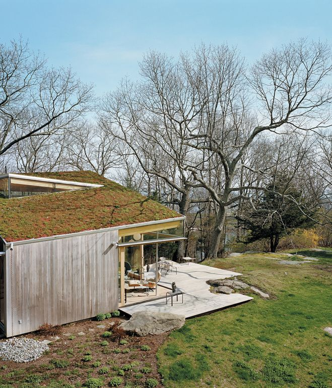 The Deck, Fashioned From Ipe, Was Built Around One Of The Propertyu0027s Many  Granite Outcroppings. An Earthen Roof Was Planted With The Same Varieties  Of Sedum ...