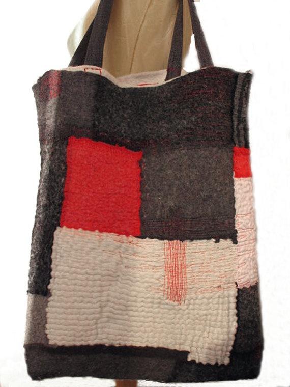 pattern inspiration __ nuno felt chic tote bag by gaiagirard
