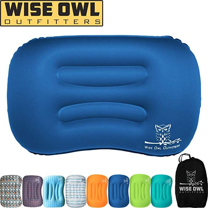 Wise Owl Outfitters Ultralight Inflatable Air Camping Pillow Compressible Compact Inflating Small Travel Pillows For Sleeping Backpacking Hammock Car Camp Or Camping Pillows Backpacking Hammock Travel Pillow