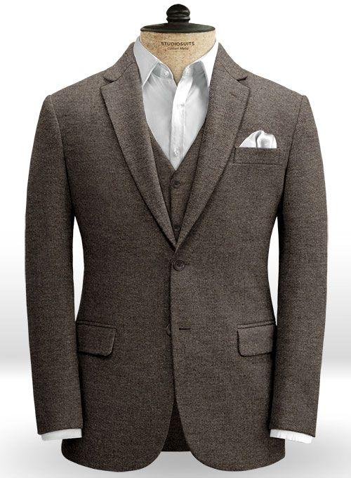 5eddbfe1416 Carre Brown Tweed Jacket   StudioSuits  Made To Measure Custom Suits ...