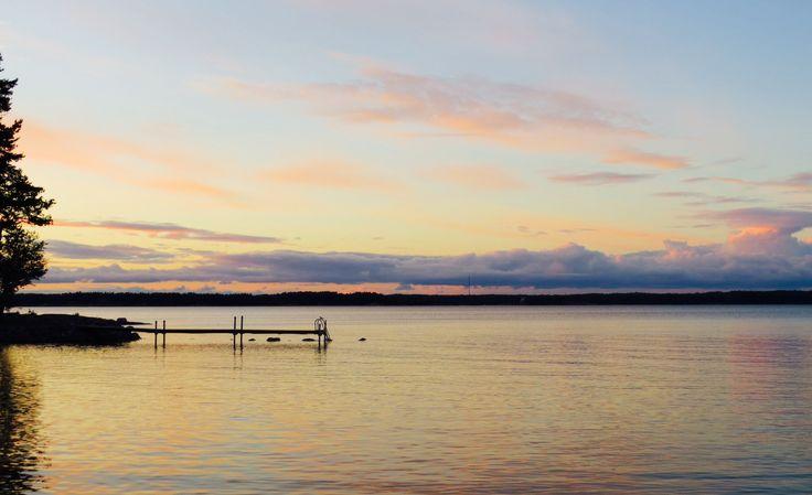 Sunset at sea shore