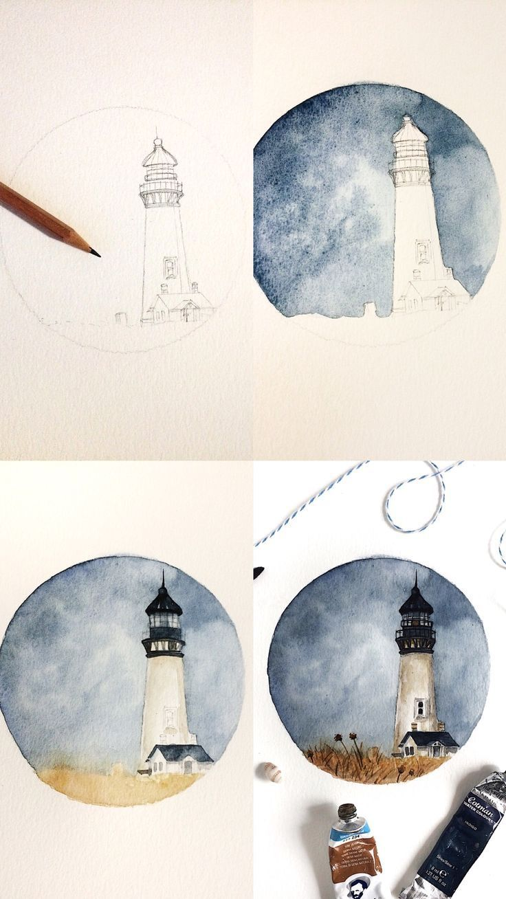 Prozessfotos zur Aquarellmalerei.