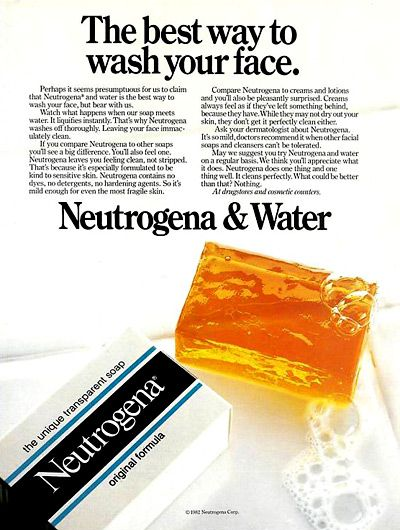 Back in the day, there was none of this ProActiv crap.  You washed your face with a Neutrogena bar of soap and that was it.  Maybe some burny OxyClean wipes if you were desperate!