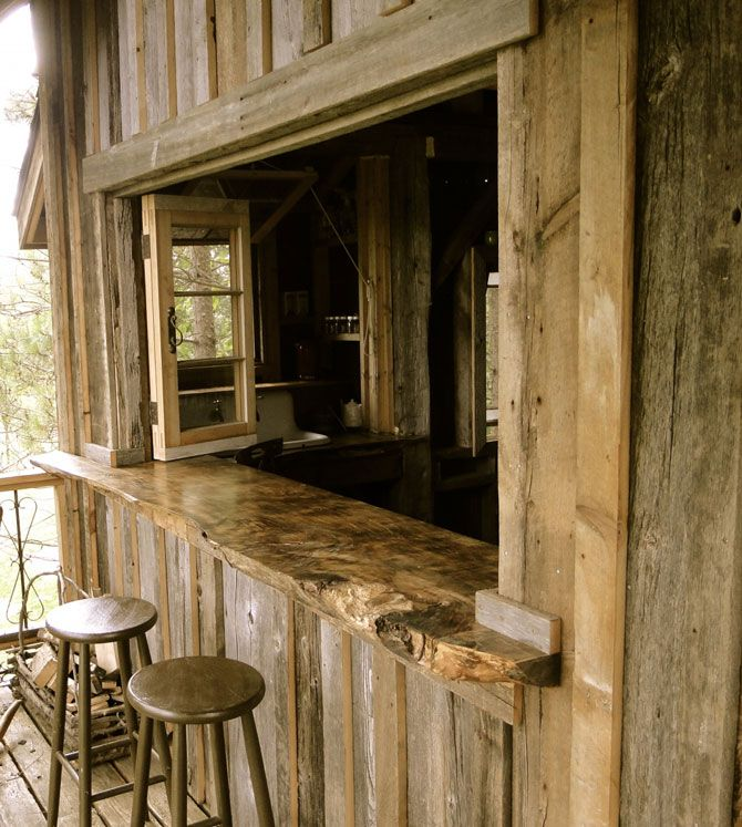 My idea of a perfect counter ... and, in treehouse! (design by Lynne Knowlton)