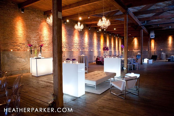 Gallery 1028 warehouse wedding venue in Chicago with loft like ceilings. One of my faves!