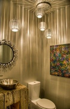Mountain Modern - Modern - Powder Room - other metro - by Bear Mountain Builders & 7 best Powder Rooms images on Pinterest | Bear mountain Bathroom ...