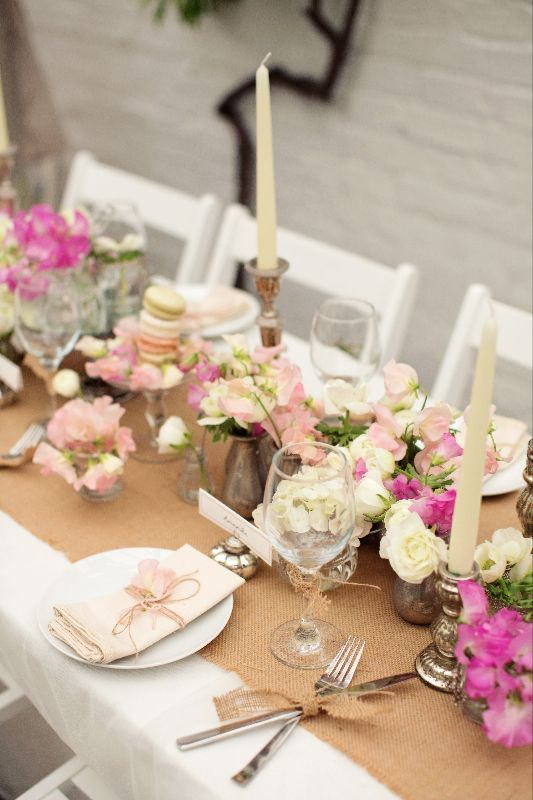 Decor Runners Macaroons And Hessian Table Runner