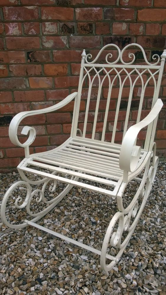 Stunning Shabby Chic Victorian Style Rocking Chair in Cottage Cream Finish  2440 #Smartstoreuk