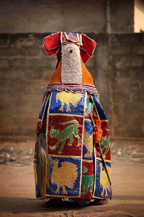 Hoodoo Magick Rootwork:  Ouidah, Benin, #Voodoo ceremony - Egungun spirits.
