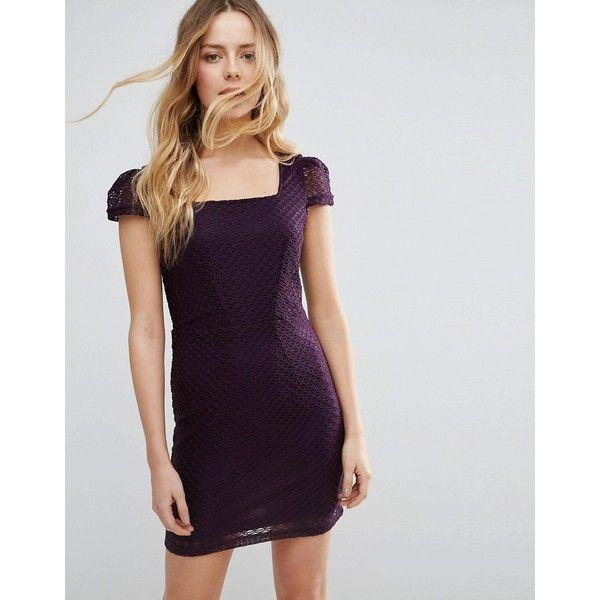 Jasmine Textured Pencil Dress ($16) ❤ liked on Polyvore featuring dresses, purple, bodycon dresses, tall dresses, pencil dress, body con dress and textured dress