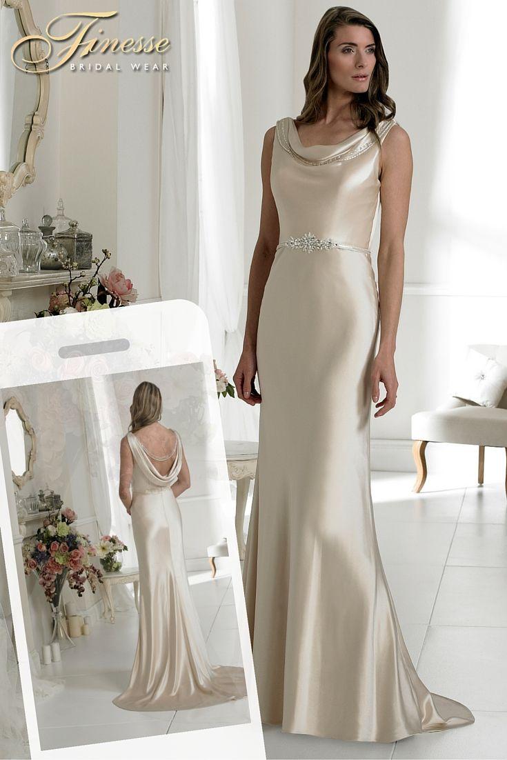 Slinky Wedding Dress Finesse Bridal Wear in Listowel, Co Kerry #SimpleDress #Flattering