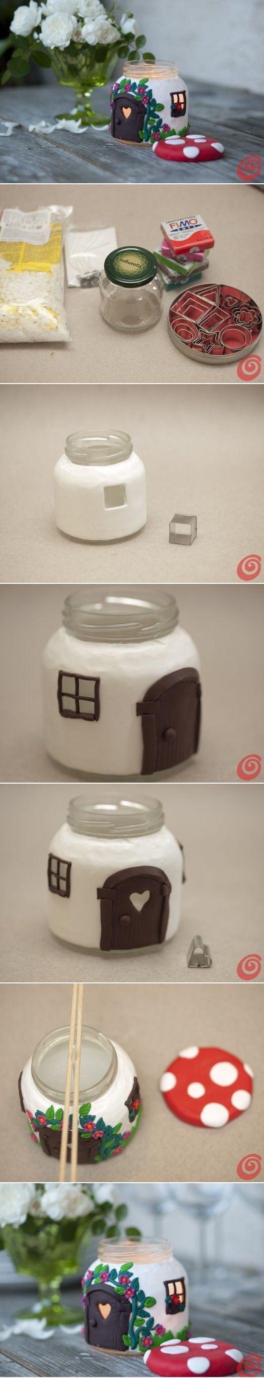 DIY Jar Mushroom House