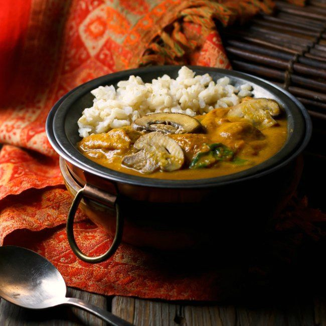 Hot and Hearty Mushroom Curry #MeatlessMonday