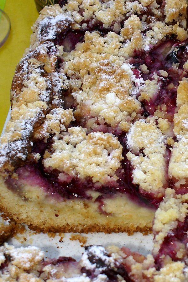 Švestkový koláč s pudinkovým krémem