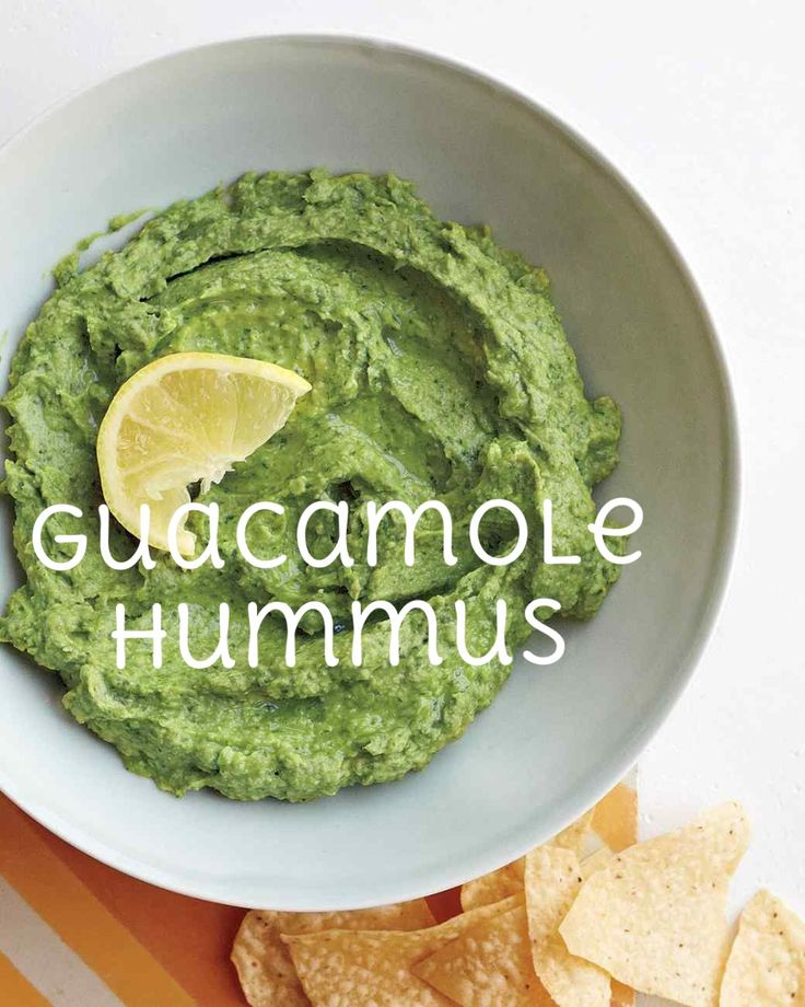 Guacamole Hummus | Martha Stewart Living - Can't decide between hummus and guacamole? This recipe, courtesy of Catherine Teniente from San Antonio, Texas, allows you to have it both ways in this bright, creamy dip.