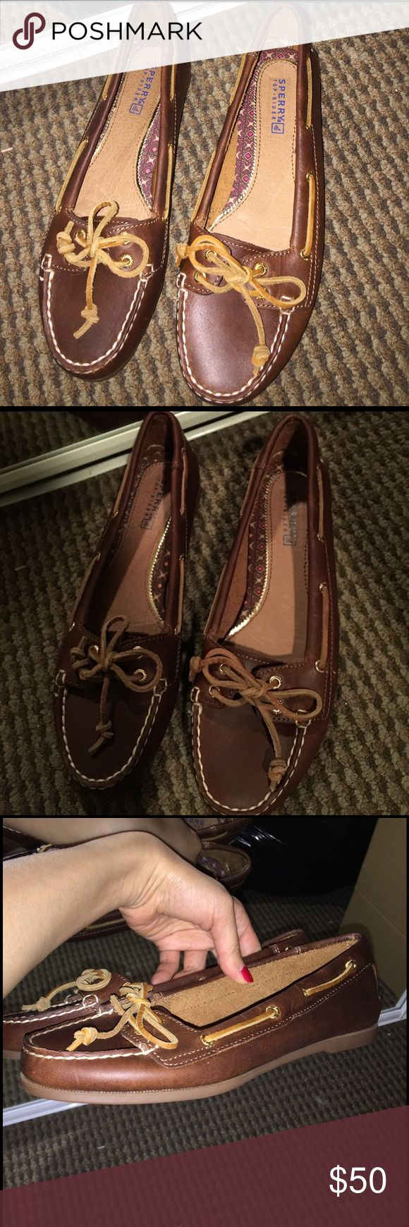 New Sperry top-sided boat shoes 7M New without box leather boat shoes Sperry Top-Sider Shoes Flats & Loafers