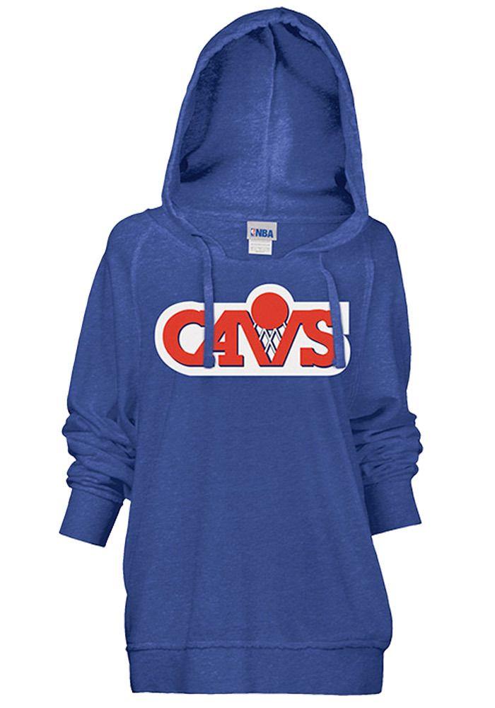 Cleveland Cavaliers Womens Glitter Hooded Sweatshirt -  Royal
