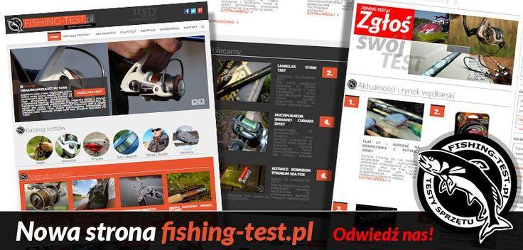 Zapraszamy na naszą witrynę w nowym wydaniu! Adres ten sam, ale wygląd zupełnie zmieniony. #wędkarstwo #fishingtest