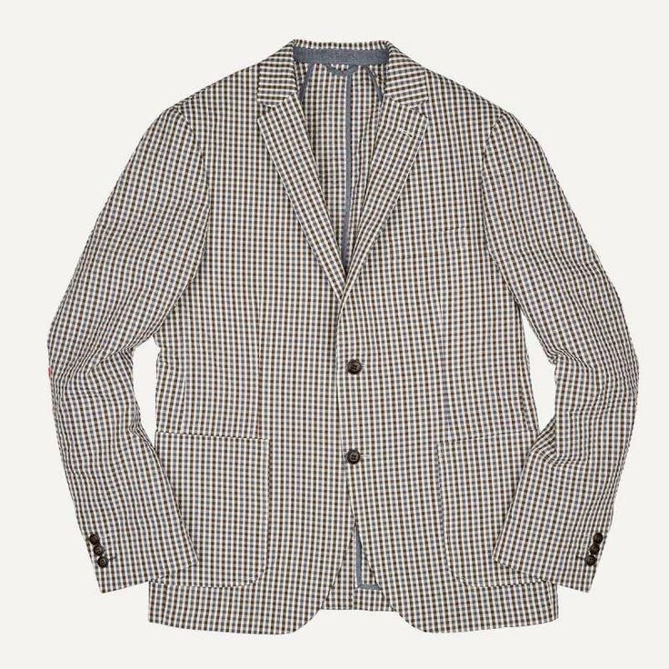 Laurier Mini-Gingham Seersucker Blazer | $135 | Frank and Oak