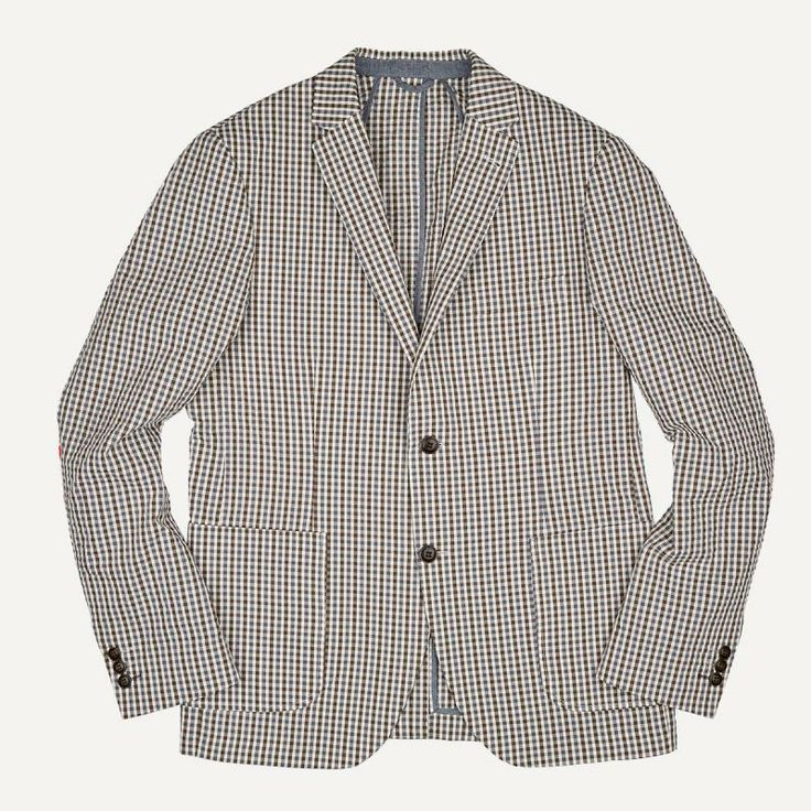 Laurier Mini-Gingham Seersucker Blazer | $135 | Frank and Oak